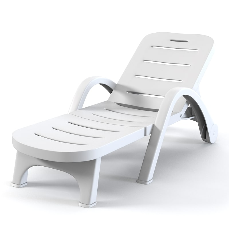 3ds max plastic sunlounger sun for Pvc pipe lounge chair