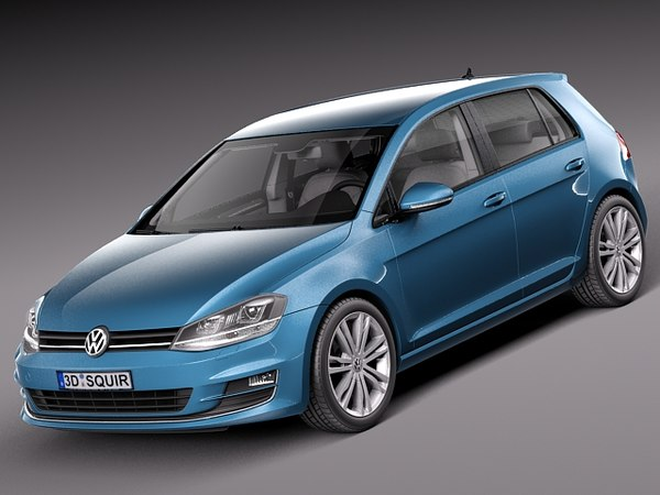 Volkswagen Golf VII 2013 5-door 3D Models