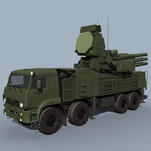 SA-22 Pantsir-S1 3D Models