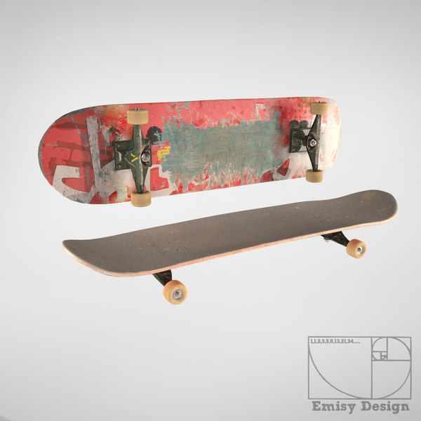 Skateboard 3D Models