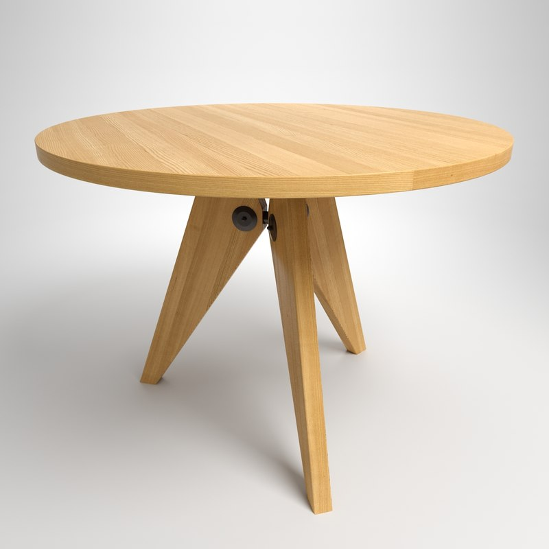 Jean table wood 3d max - Table basse jean prouve ...