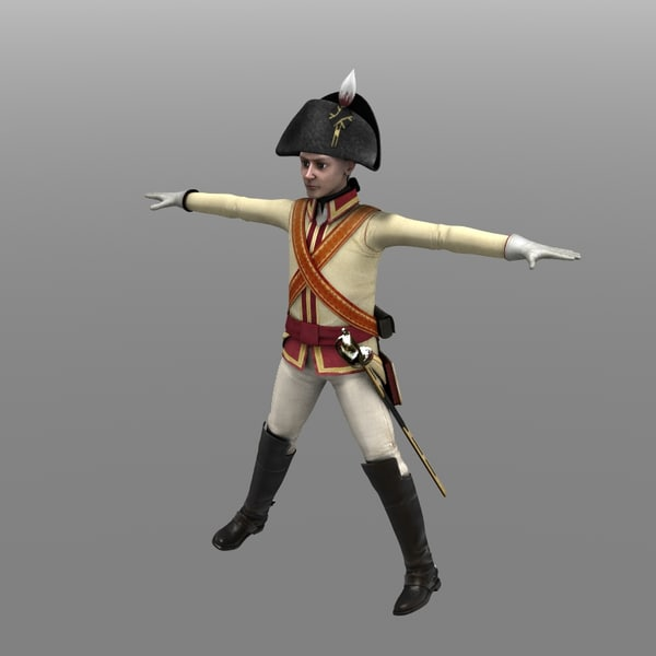 Private Of Chevalier Guards 3D Models
