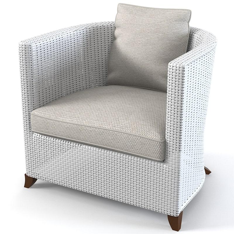 Azalea Schonhuber Franchi wicker armchair