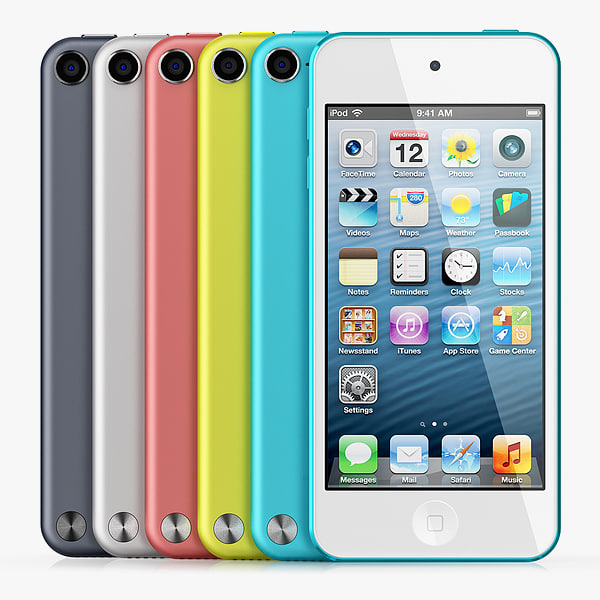 iPod touch 5 all colors 3D Models