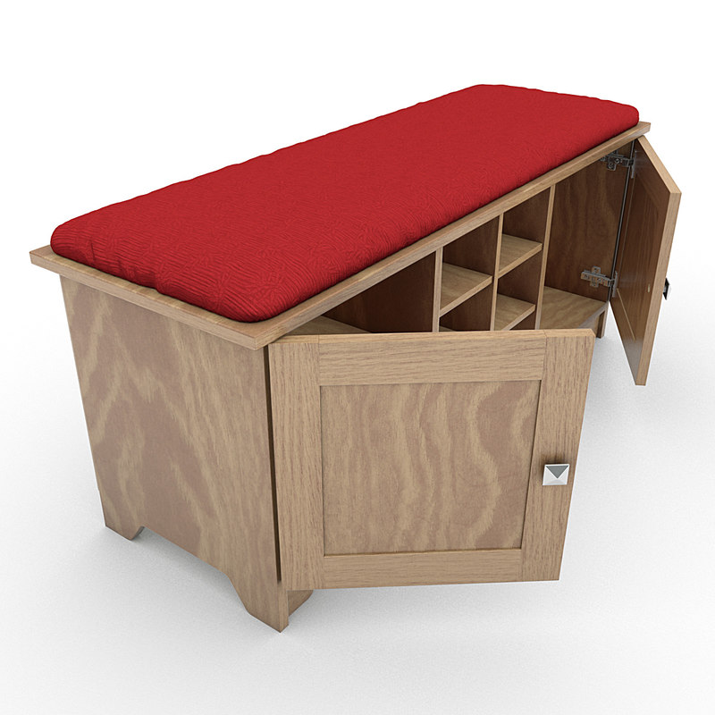 Storage Bench with Cushion 03