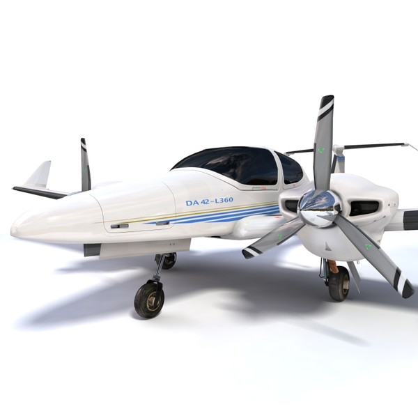 Diamond DA-42 TwinStar 3D Models
