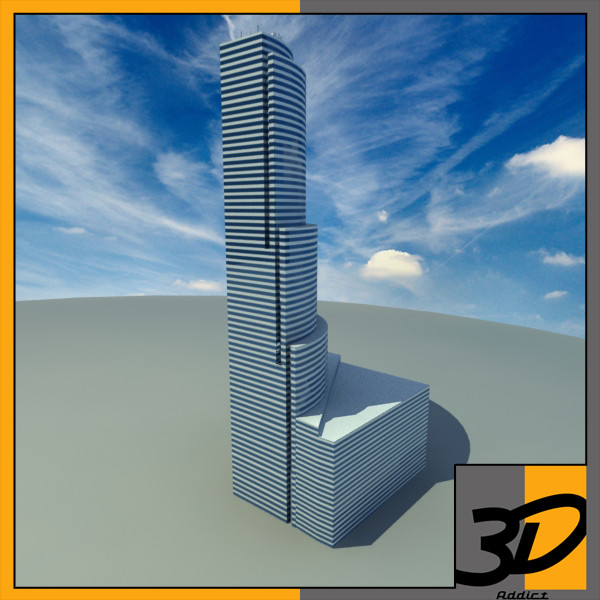 Bank of america - Miami tower 3D Models