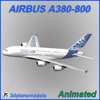 Airbus A380-800 3D models