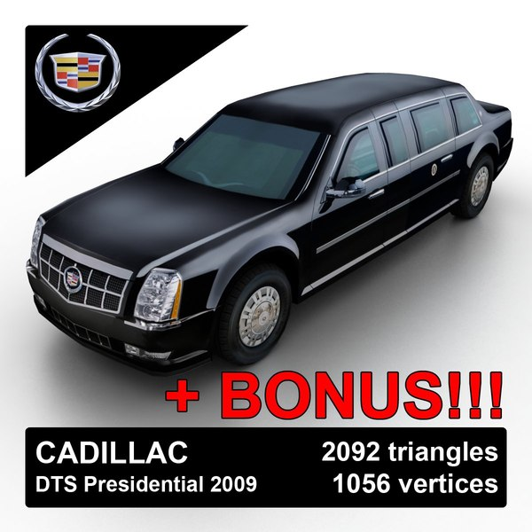 Cadillac DTS Presidential Limo 2009 3D Models