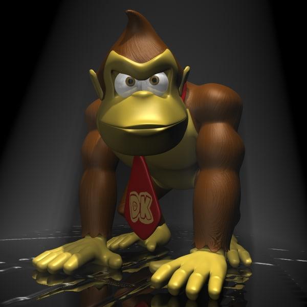 Donkey Kong RIGGED 3D Models