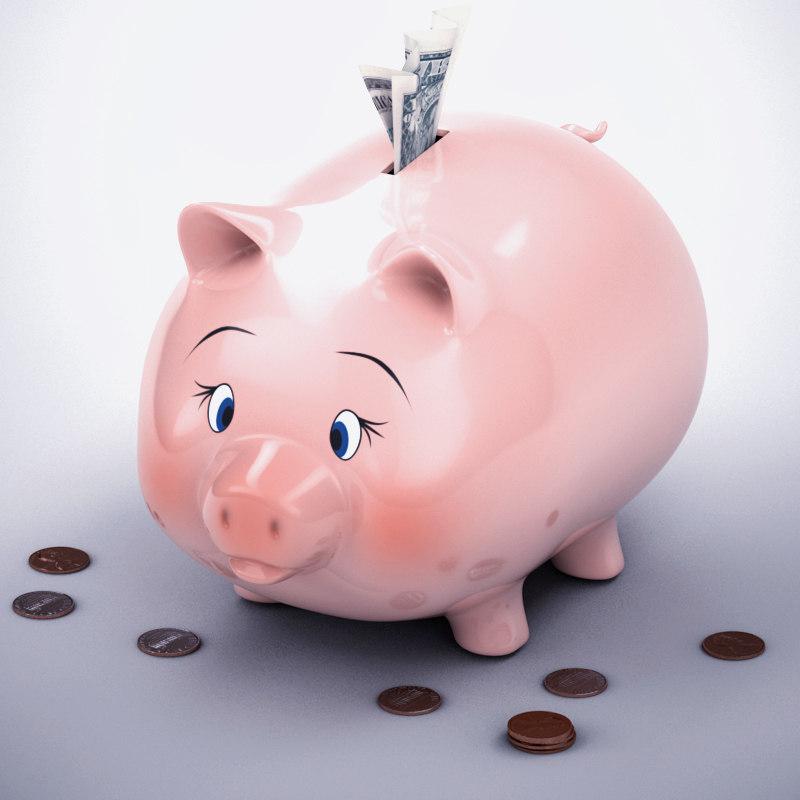 Loaded Piggy Bank