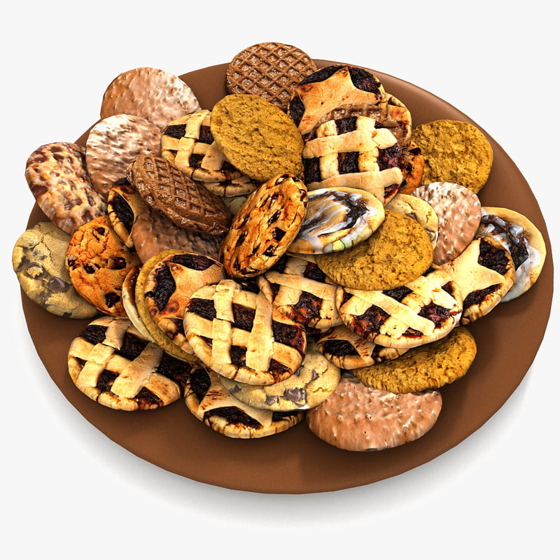Bake Holiday Traditional Chocolate Cookies Sweet Mince On Plate Collection