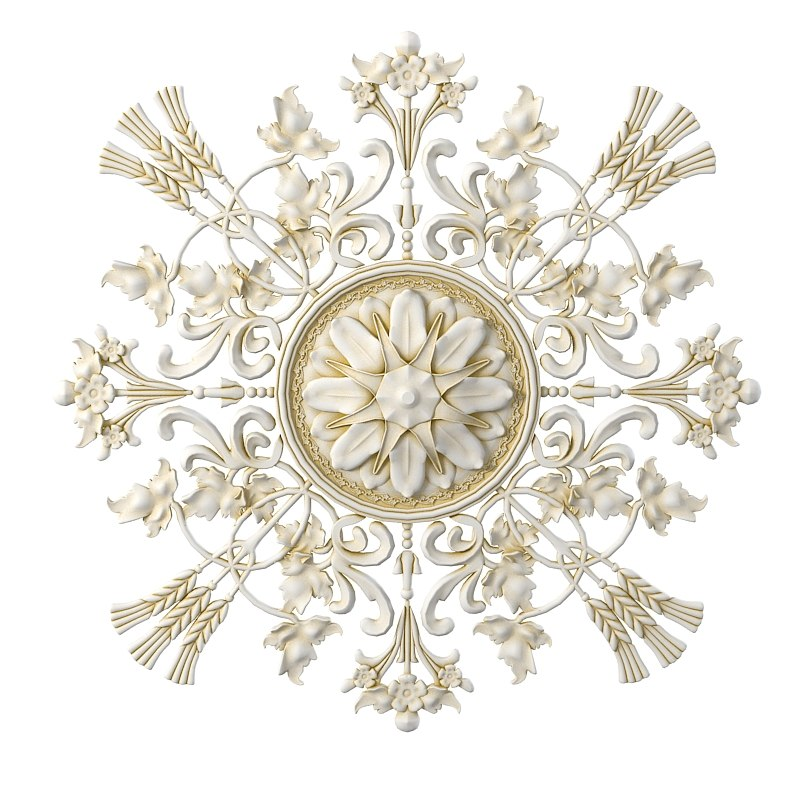 plaster ceiling medallion rose center medalion baroque empire classic decor round decorative element rosette 0001.jpg