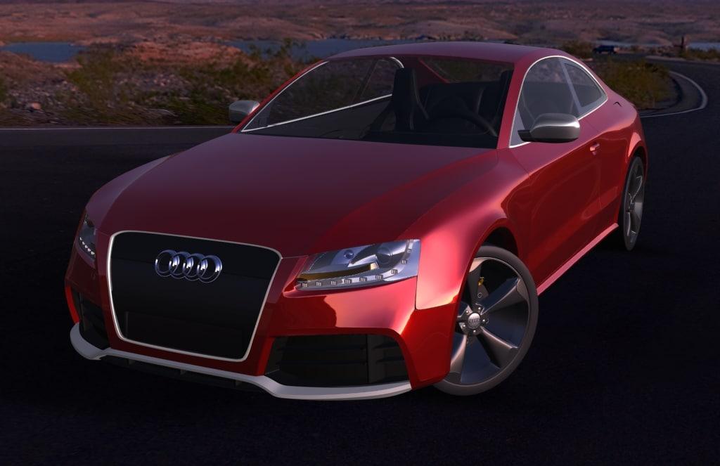 Audi RS5 rigged car