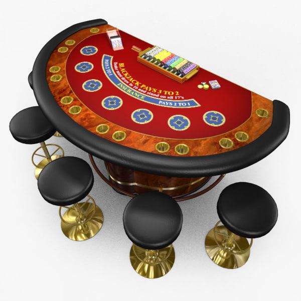casino table 3d model free