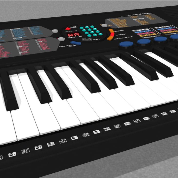 Yamaha psr 180 3d model for Yamaha piano keyboard 61 key psr 180