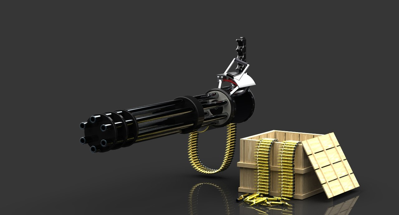 Minigun Bullet 3d minigun crate bulle...