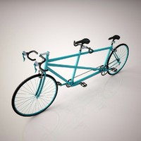 tandem bicycle 3D models