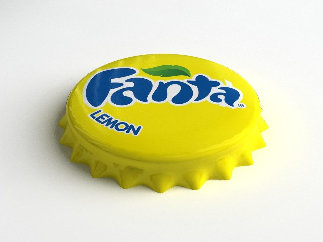 Fanta Lime Bottle Tin Cap