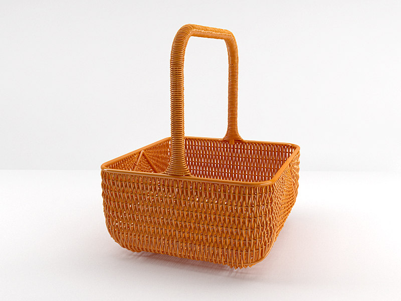 Basket with cloth