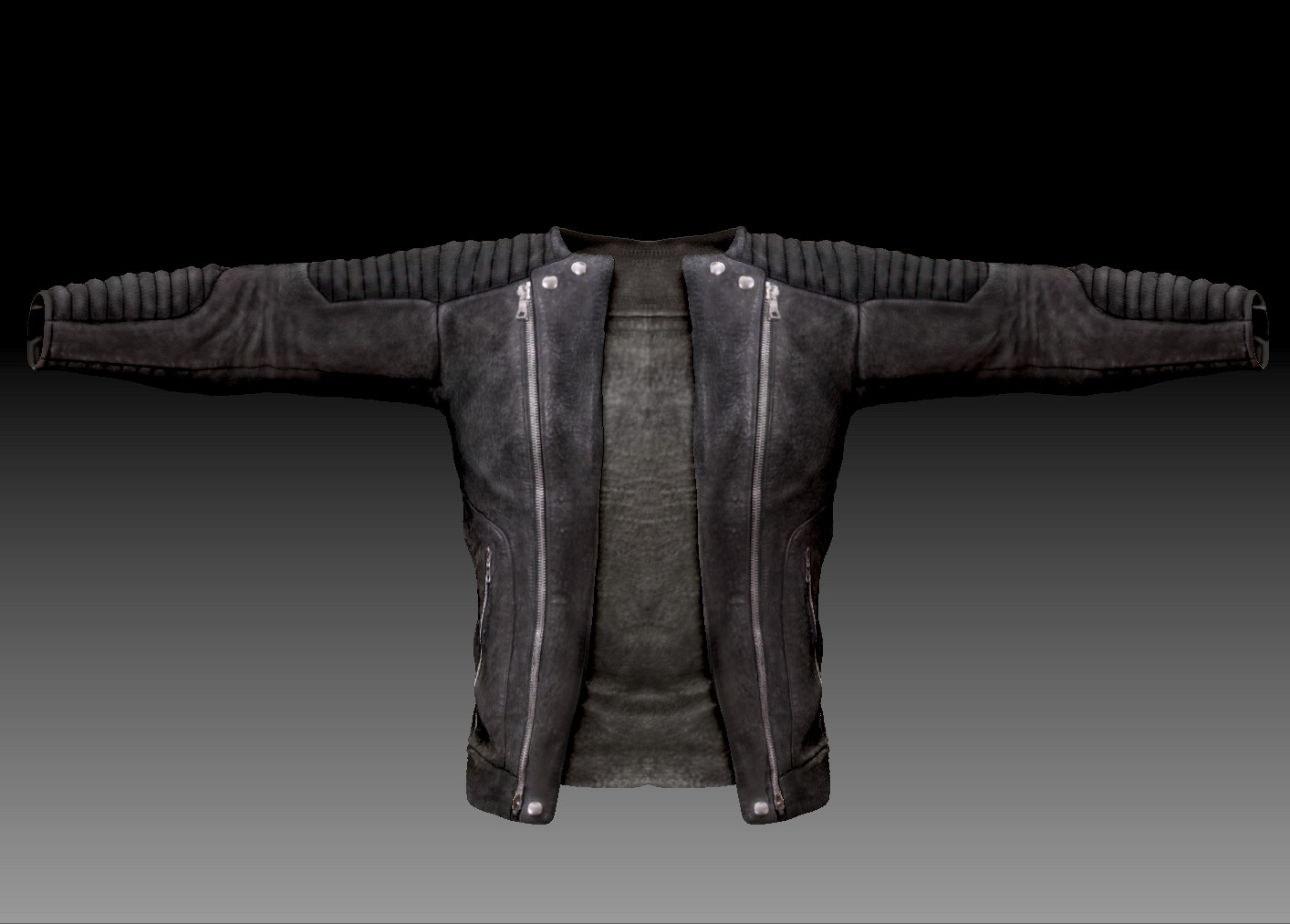Balmain Leather Jacket 3D.jpg