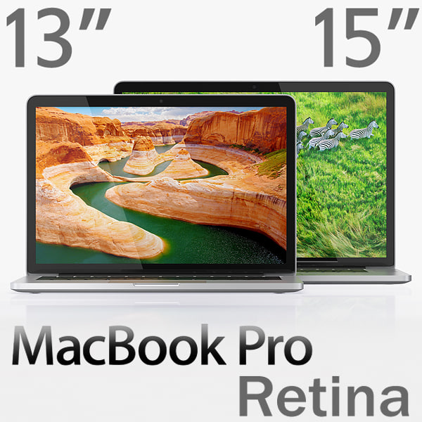 MacBook Pro Retina display 15-inch and 13-inch 3D Models