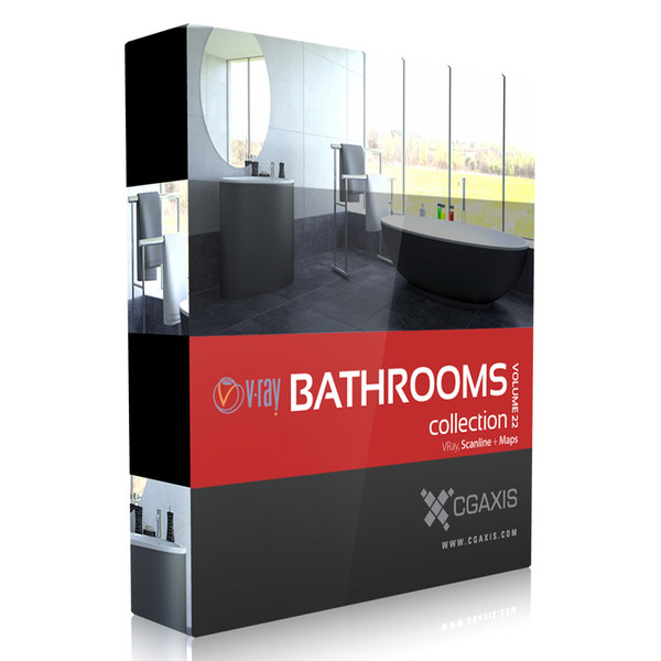 CGAxis Models Volume 22 Bathrooms VRay 3D Models