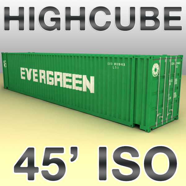 ISO shipping container 45 feet highcube 3D Models