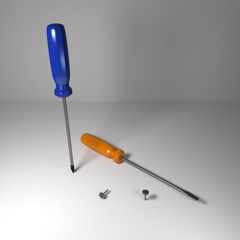 Screwdrivers and Screws CG Models for Sale