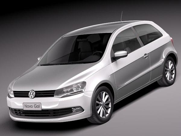 Volkswagen Gol 2013 3D Models
