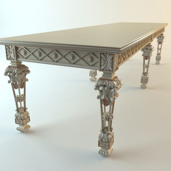 Console table baroque 3d max - Baroque console table ...