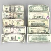 Twenty dollar bill 3D models