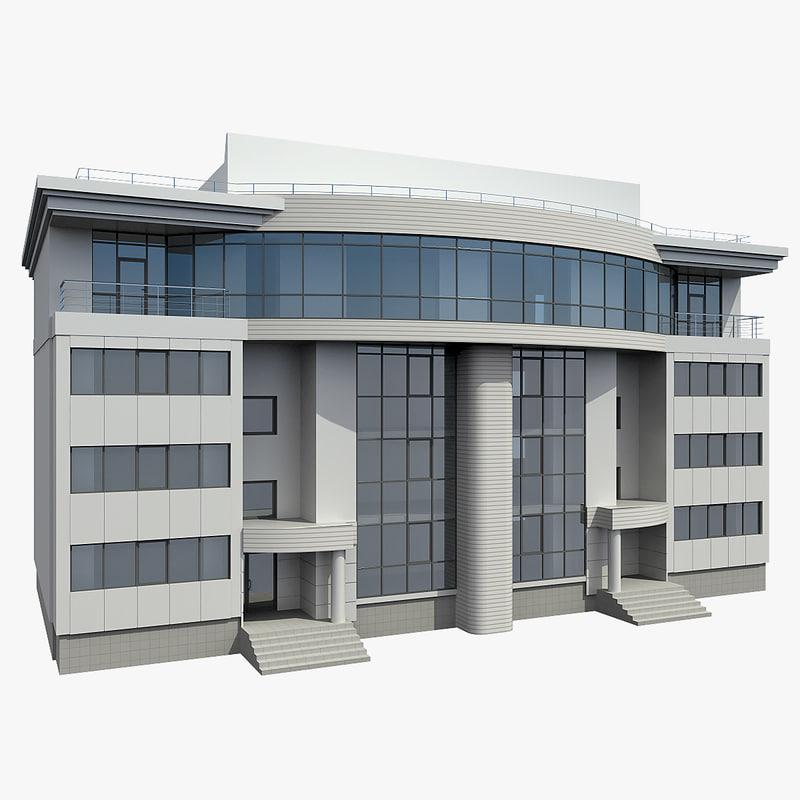 3d office building model for Construction 3d
