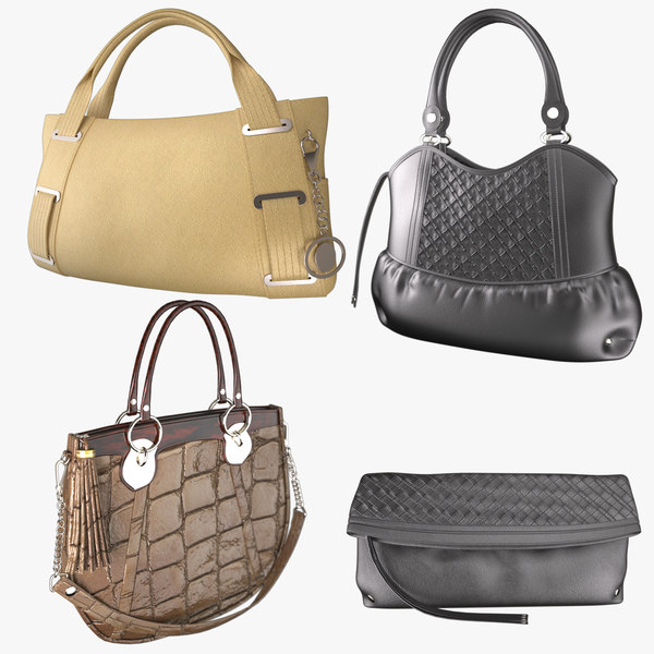 Lady's Handbag Four type 3D Models