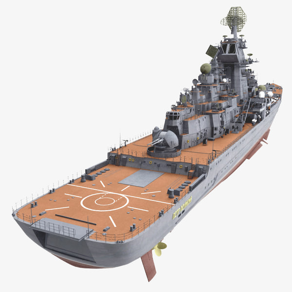 Type 1144.2 - Peter the Great 3D Models
