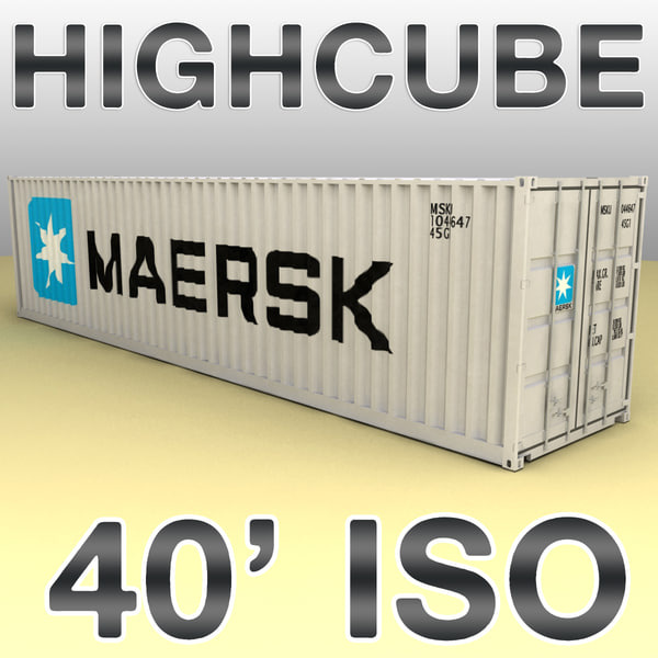 ISO shipping container 40 feet highcube 3D Models
