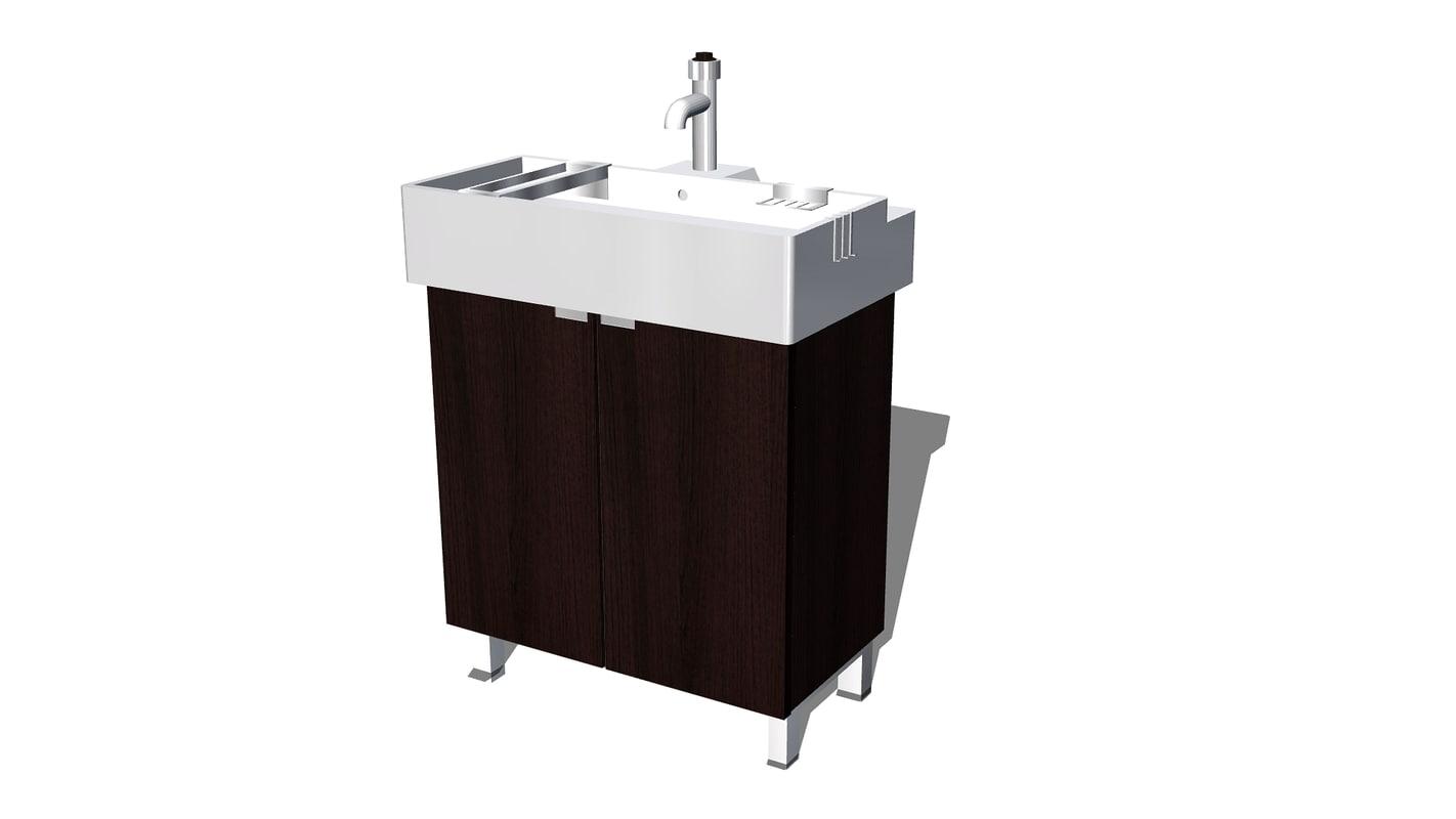 Maya lillangen sink cabinet ikea bathroom for Sketchup bathroom sink