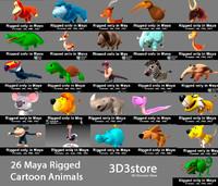 cartoon zebra 3D models