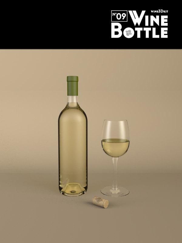 3ds Max Bottle 3ds Max Bottle 09 Wine