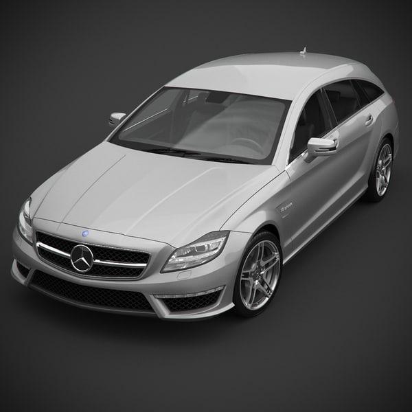 Mercedes-Benz AMG CLS63 Shooting Break 3D Models