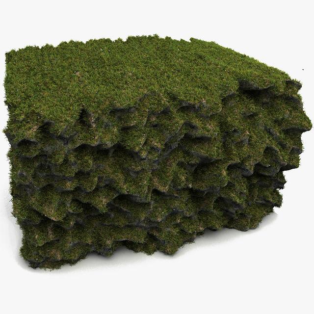 Terrain ground max for Soil 3d model