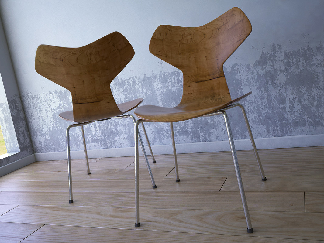 3d model jacobsen grand prix chair. Black Bedroom Furniture Sets. Home Design Ideas