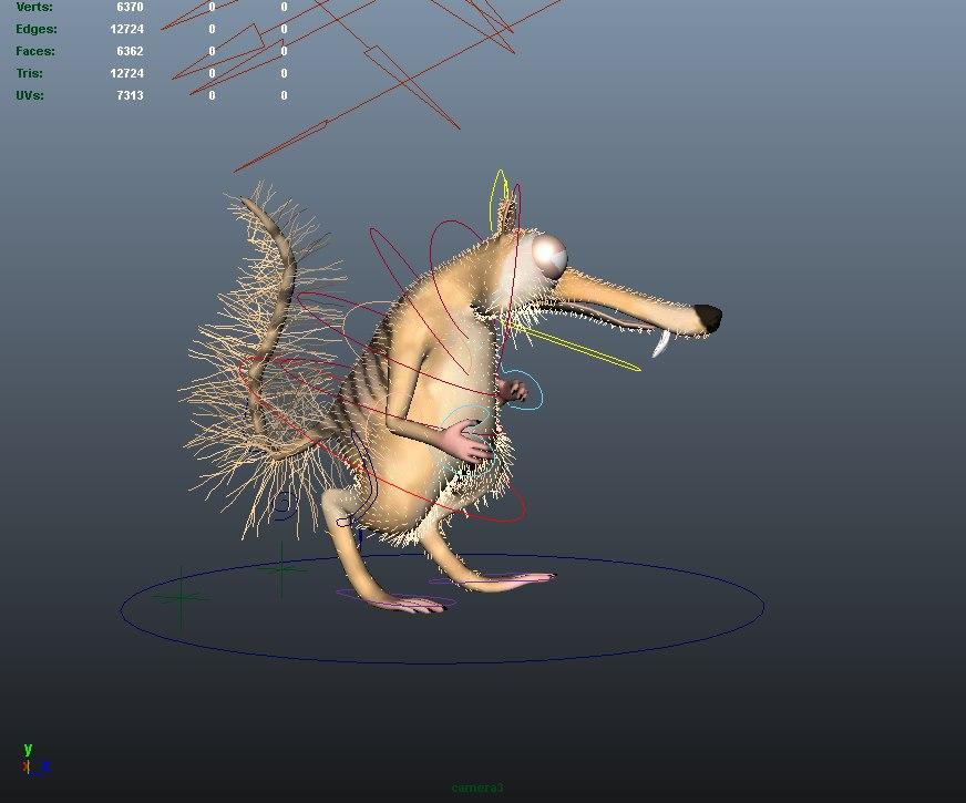 Squirrel Scrat Animated