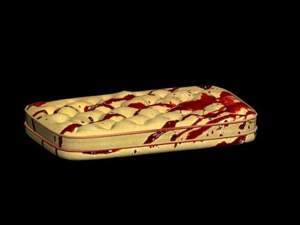 bloody mattress 3D Models