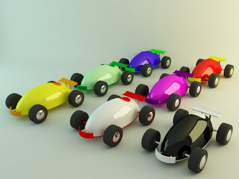 Small toy cars collection