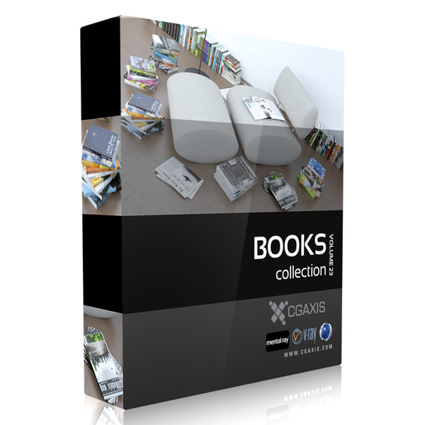 CGAxis Models Volume 23 Books 3D Models