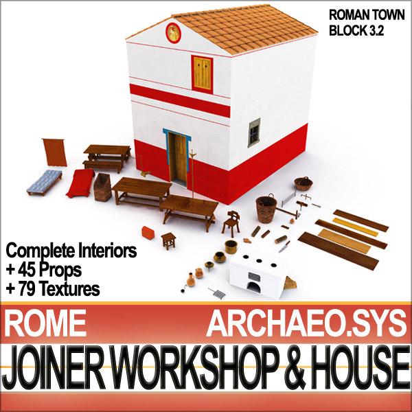 Ancient Roman Town Joiner Workshop House 3.2