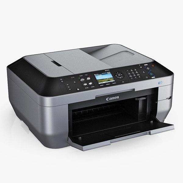 Canon PIXMA MX870 Inkjet All-in-One Printer 3D Models