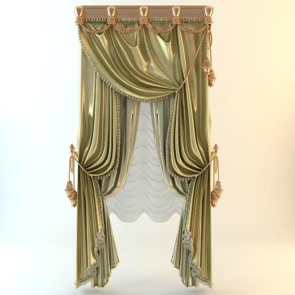 3ds curtain elegant