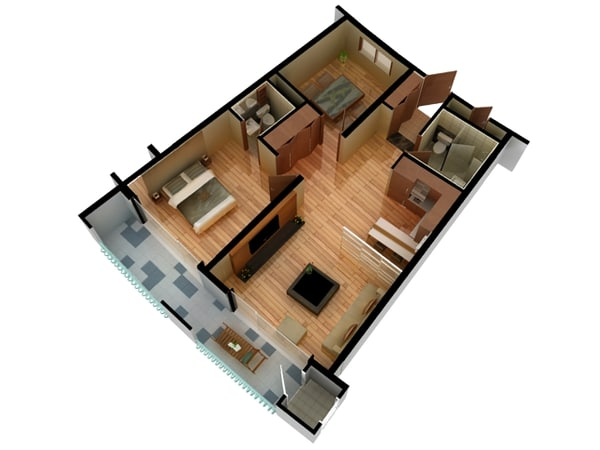 3d floorplan models max 3ds obj fbx blend House plan 3d view